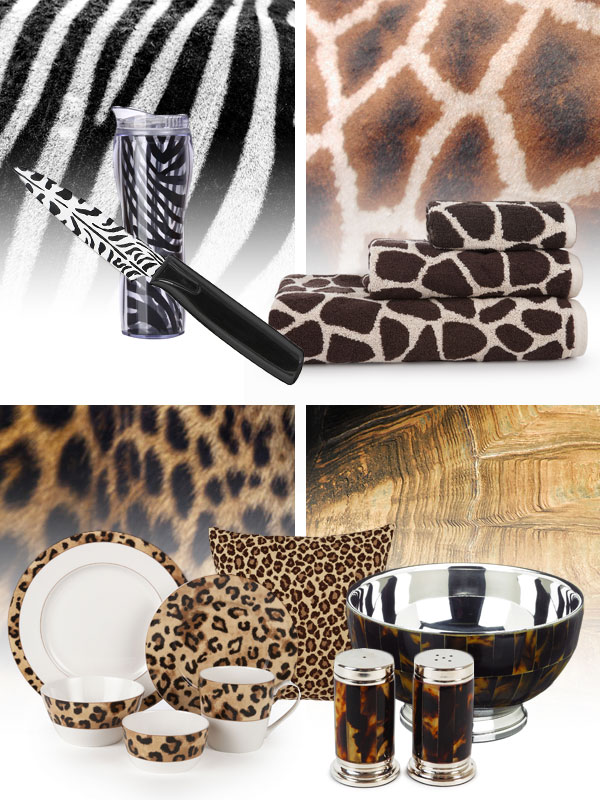 Cheetah Zebra Dinnerware http://community.dillards.com/2012/06/23/the-homefront-were-wild-about-animal-prints/