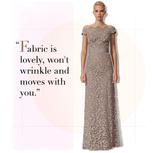 Tadashi Off-the-Shoulder Gown